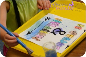 Preschool adaptation of Strong and Courageous Word Art