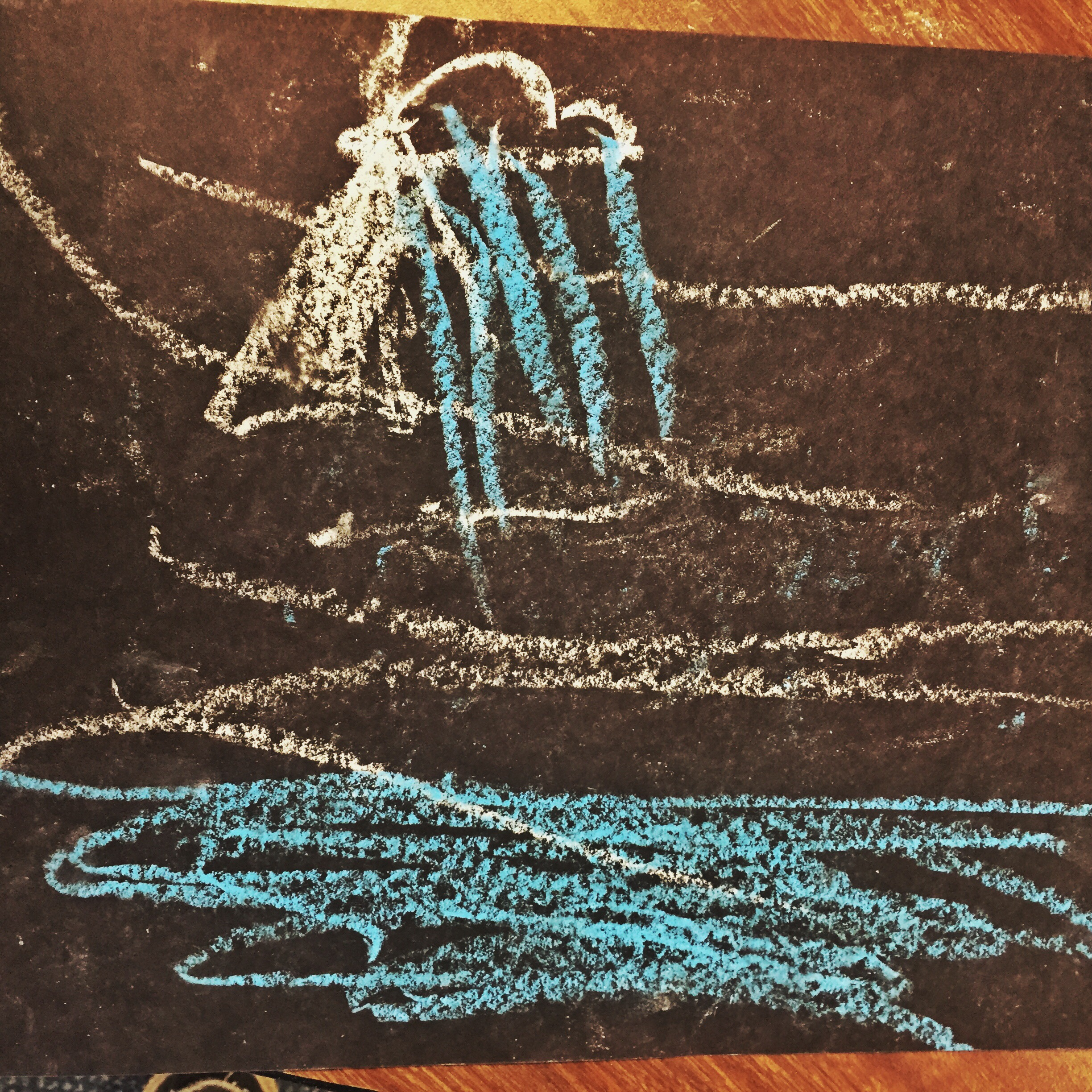 Jesus Calms the Storm Preschool Drawing